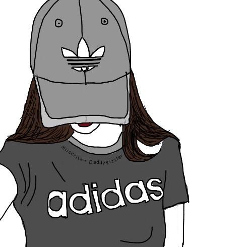 FreeToEdit outline drawing doodle tumblr girl adidas.