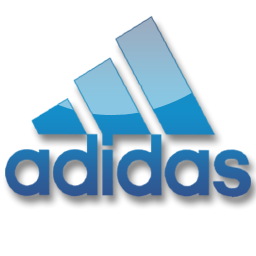 Blue, Adidas icon.