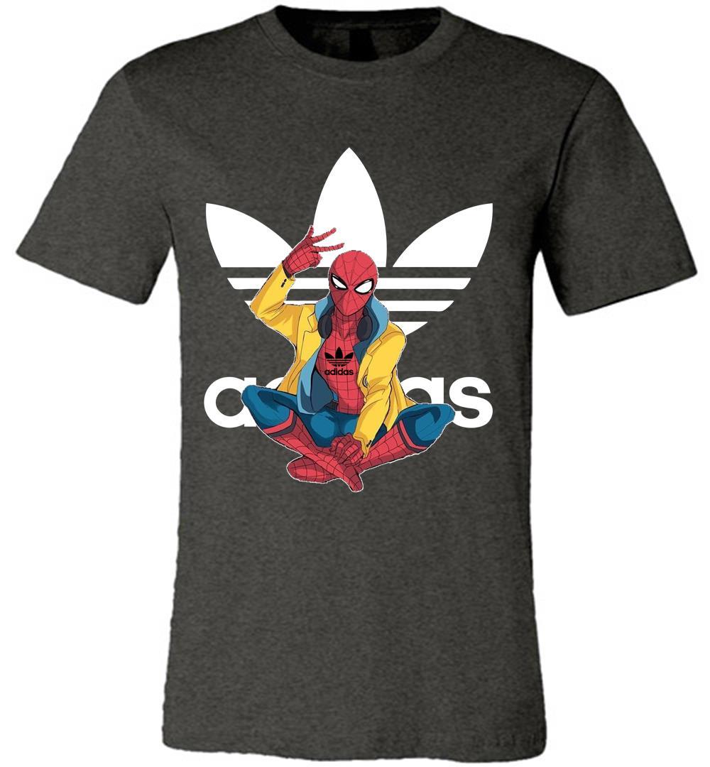 Marvel Spiderman Homecoming With Adidas Logo Luxury Premium T.