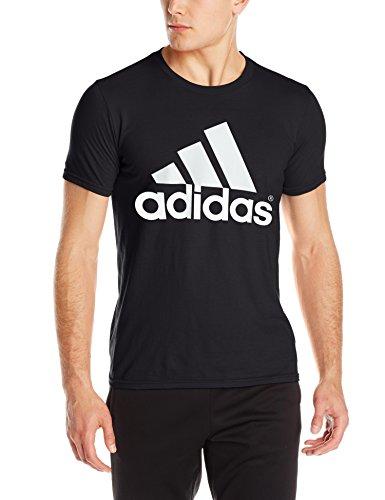 adidas Men\'s Logo Tee, Black, Medium.