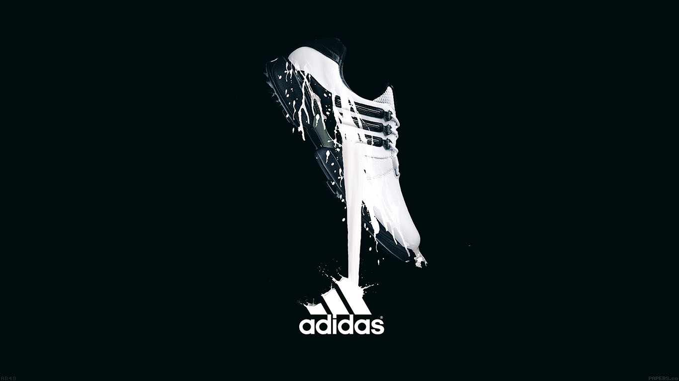 White Adidas Logo #Wallpaper.