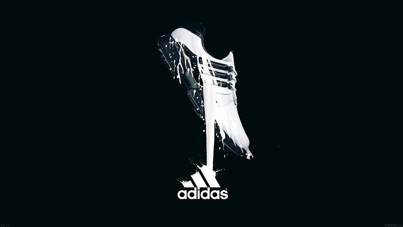 White Adidas Logo #Wallpaper.