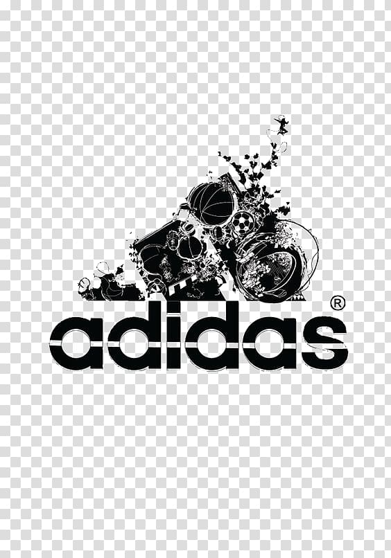 Adidas logo, Adidas sports brand transparent background PNG.