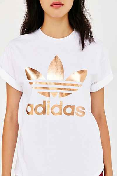 Really, really want this!! adidas Rose Gold Double Logo Tee.
