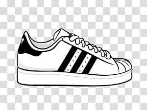 Adidas Superstar transparent background PNG cliparts free.