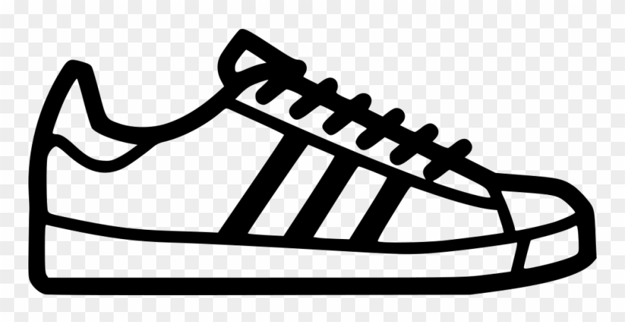 Footprint Svg Tennis Shoe Vector Black And White Stock.