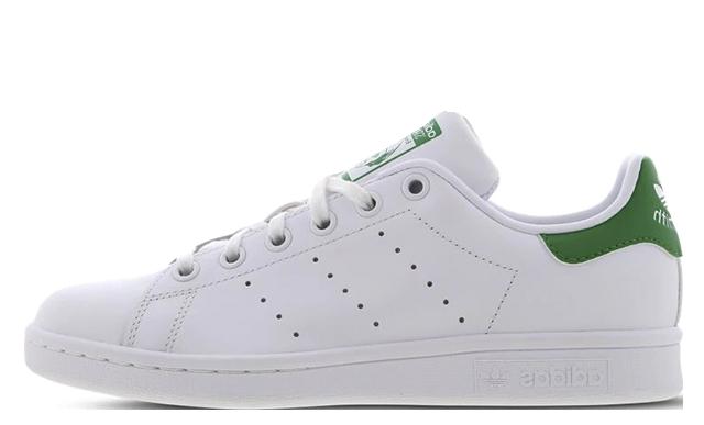 adidas Stan Smith GS White Green.