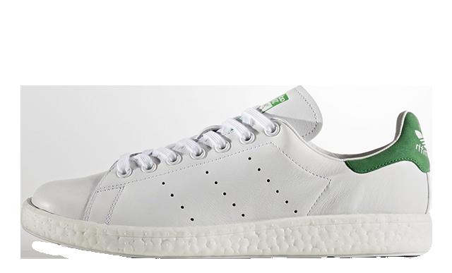 adidas Stan Smith Boost White Green.
