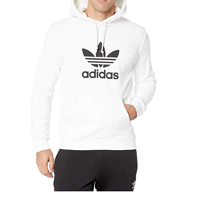 adidas Originals Men\'s Kids Trefoil Hooded Sweatshirt.