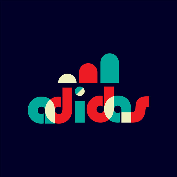 Apple, Adidas and Netflix logos get Bauhaus makeover to.