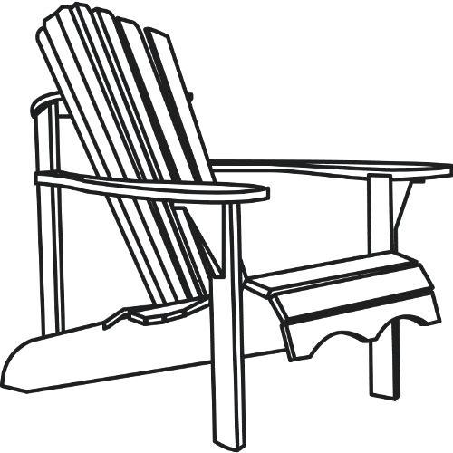 adirondack chairs clipart.