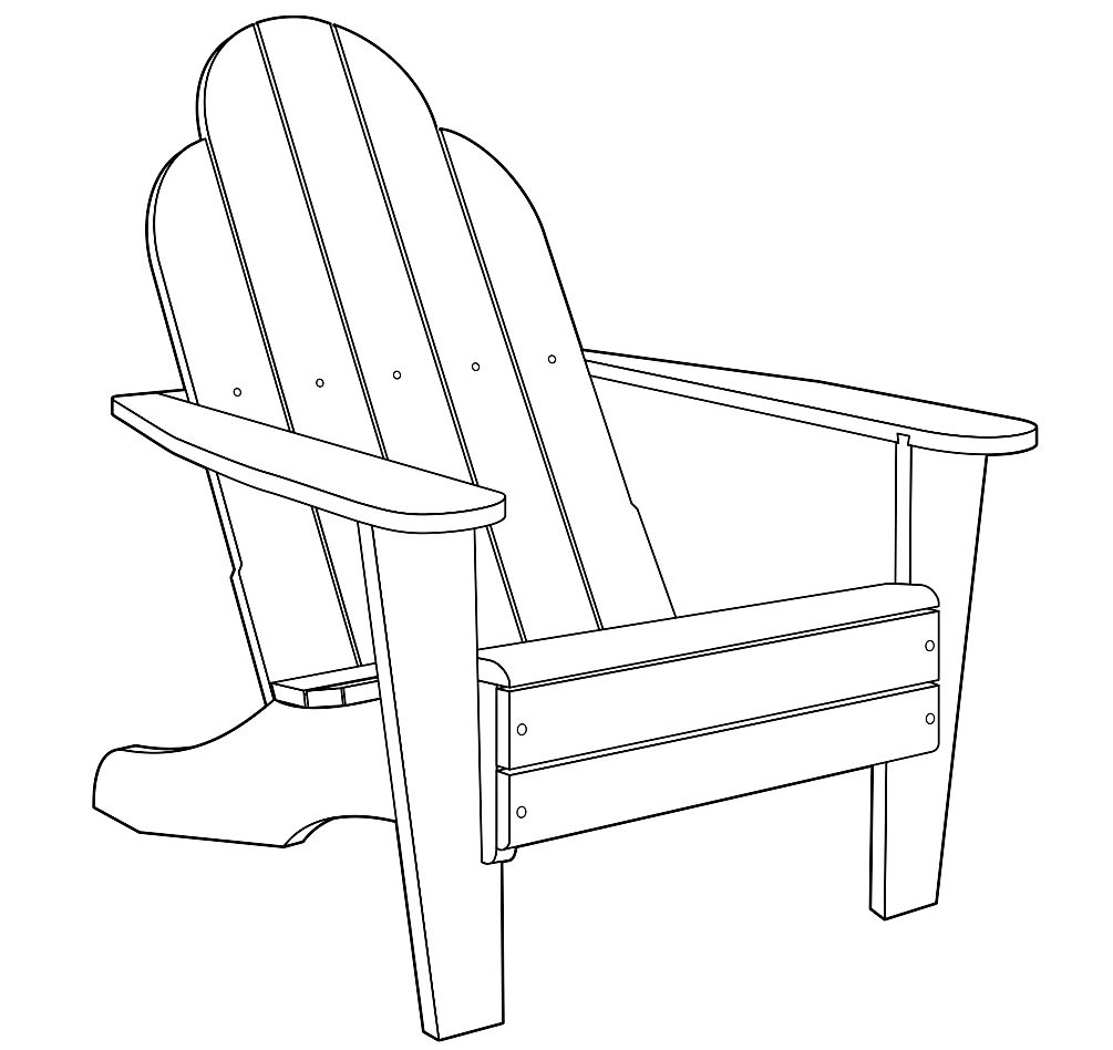 Muskoka chair design from Minwax.