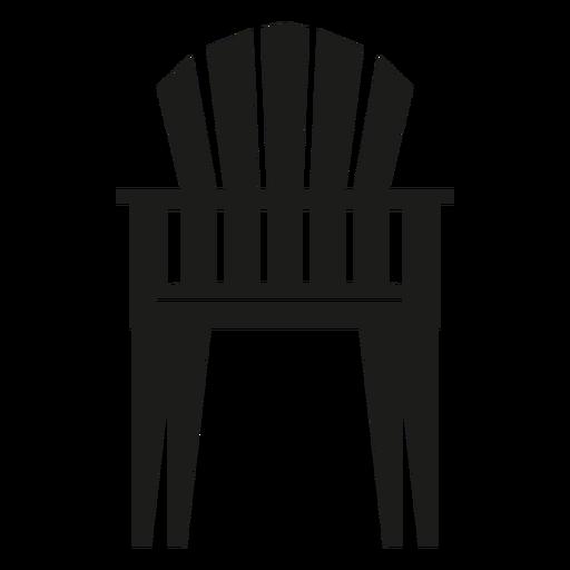Upright adirondack chair flat icon.