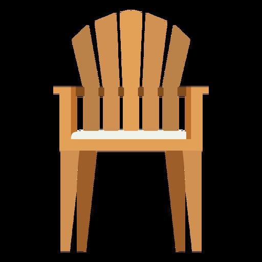 Upright adirondack chair icon.