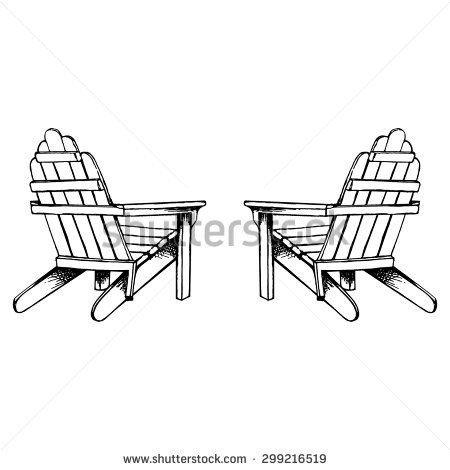 Adirondack Chair Clip Art.