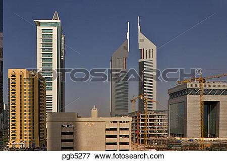 Picture of Dubai, United Arab Emirates. Construction adjacent to.