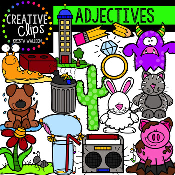 Adjectives Clipart {Creative Clips Clipart}.
