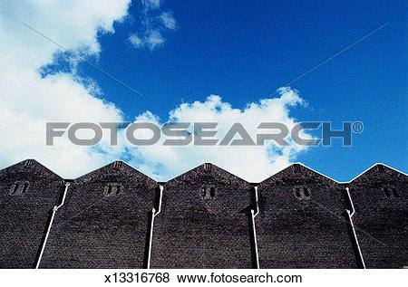 Pictures of Adjoining Brick Buildings x13316768.