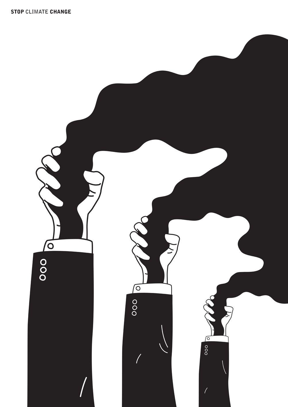 Stop Climate Change poster by Michał Sęk.