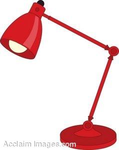 Red Adjustable Desk Lamp.