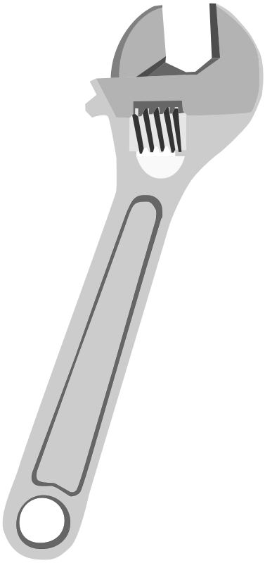 Free Clipart: Adjustable Wrench.