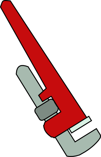 Adjustable wrench clipart.