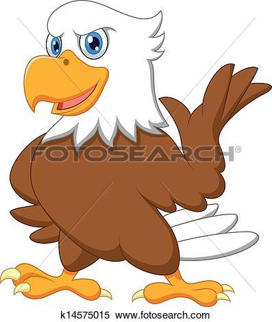 Clip Art of Eagle cartoon k3803596.