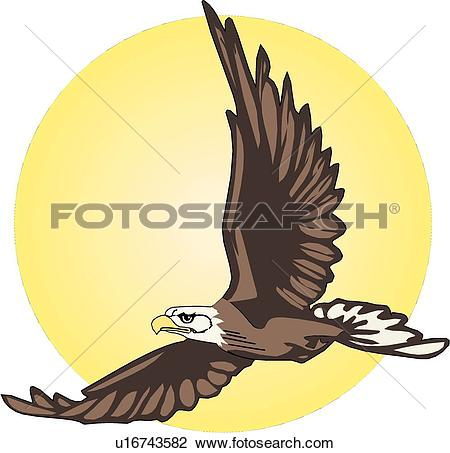 Clip Art of presidential eagle 01p0218.