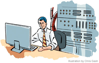 Network admin clipart.
