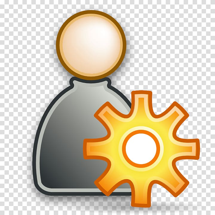 Orange gear , User System Administrator Computer Icons.