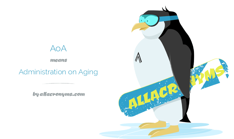 AOA abbreviation stands for Administration on Aging.