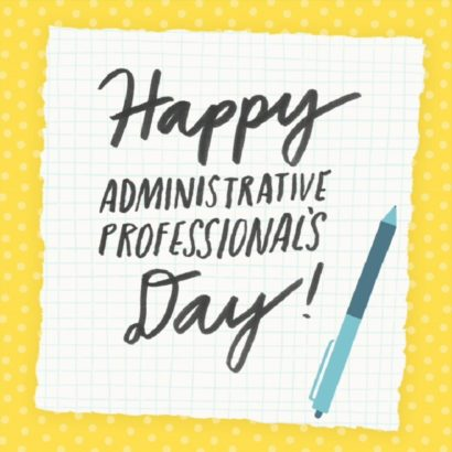 Administrative Professionals Day.