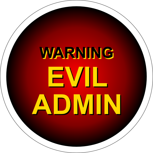 Evil Admin Warning Clip Art at Clker.com.