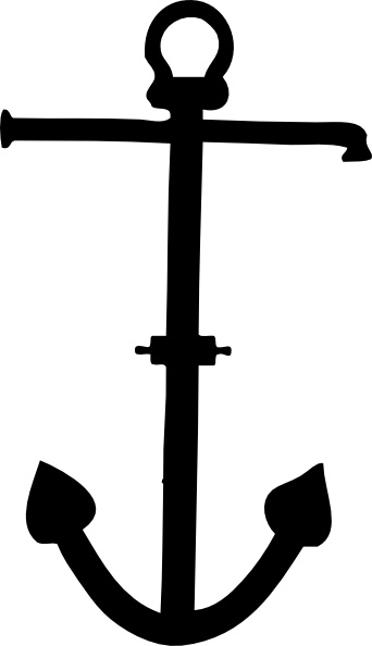Admiralty Pattern Anchor clip art Free vector in Open office.