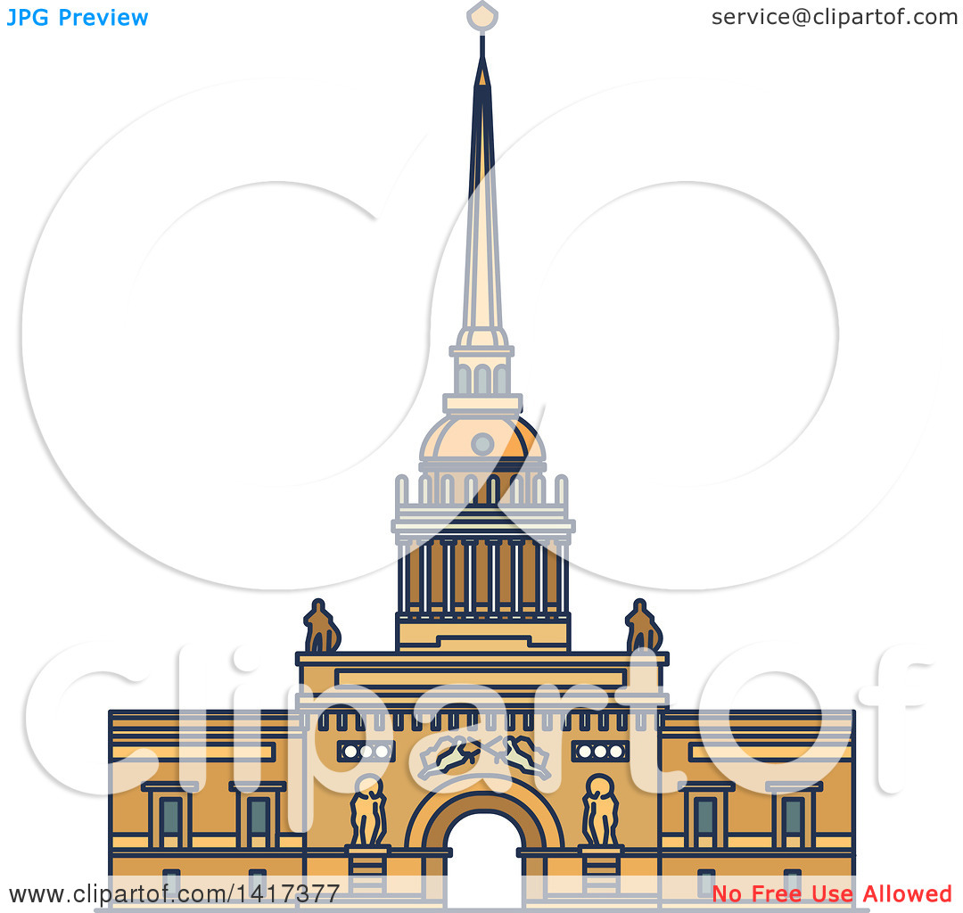 Clipart of a Russian Landmark, Admiralty.