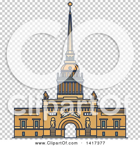 Clipart of a Russian Landmark, Admiralty.
