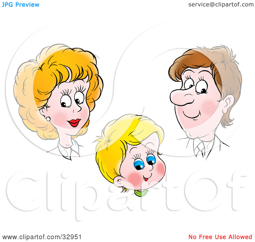 Clipart Illustration of a Proud Mother And Father Admiring Their.
