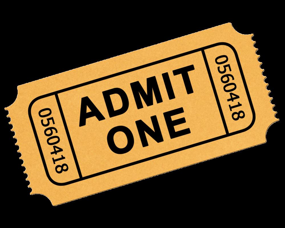 Concert clipart admission ticket, Concert admission ticket.