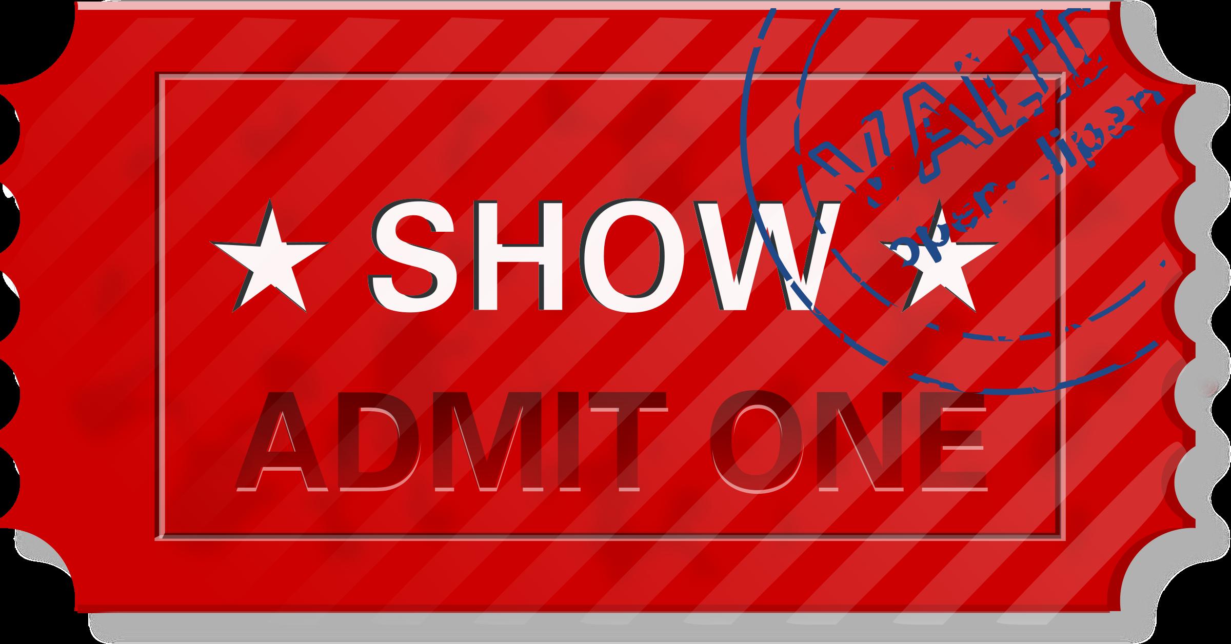 Admit One Ticket Clipart.
