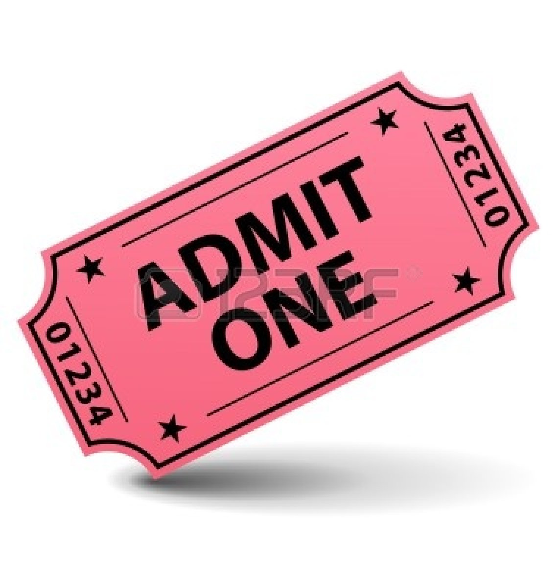 Admit One Ticket Clipart.