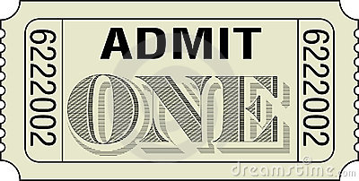 Clipart Admit One Ticket.