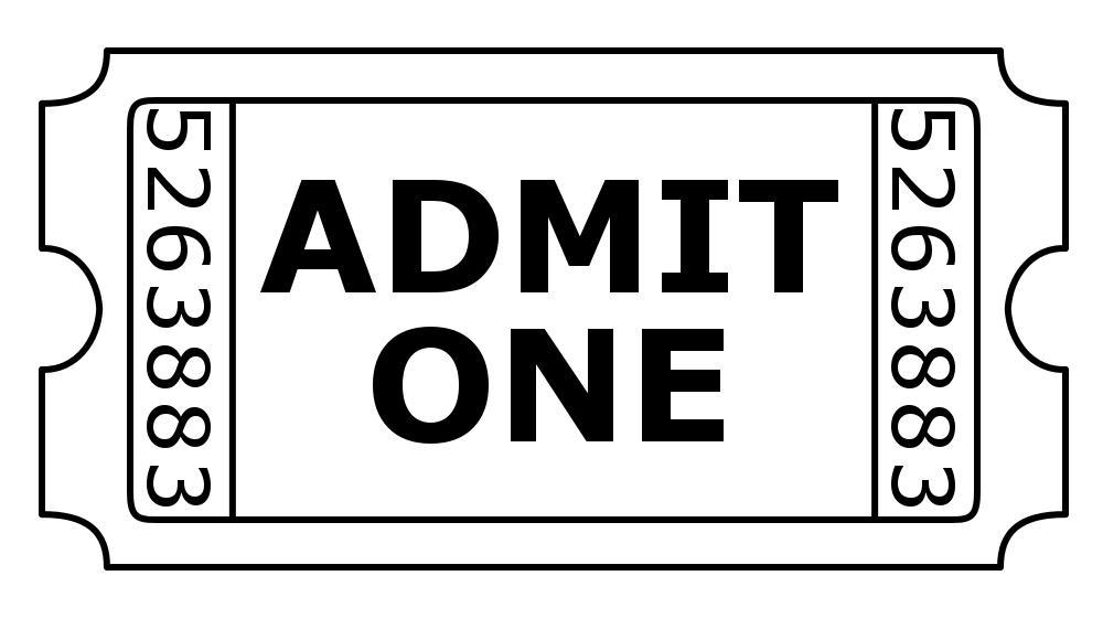 Clipart admit one ticket.