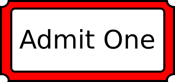 Admit one clipart - Clipground