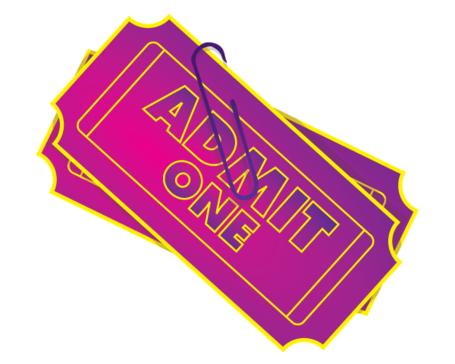 Admit One Ticket Clip Art, Vector Admit One Ticket.