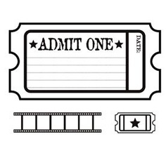 Admit one ticket free clipart.