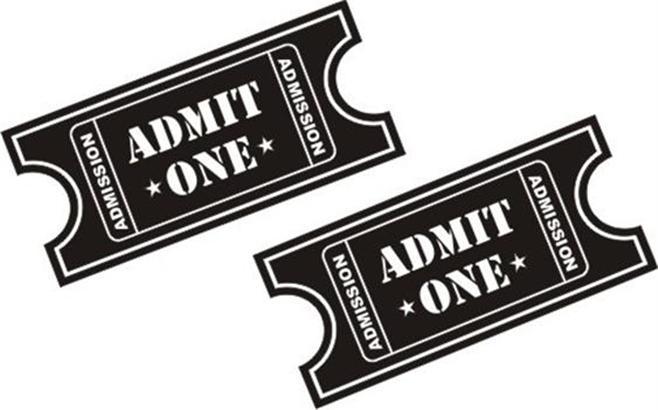 Clipart Tickets Admit One.