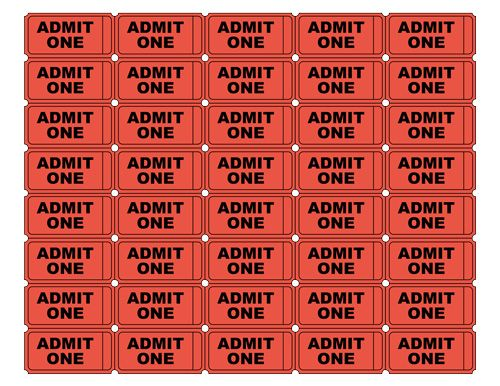 Free Printable Admit One Ticket Templates   Blank.