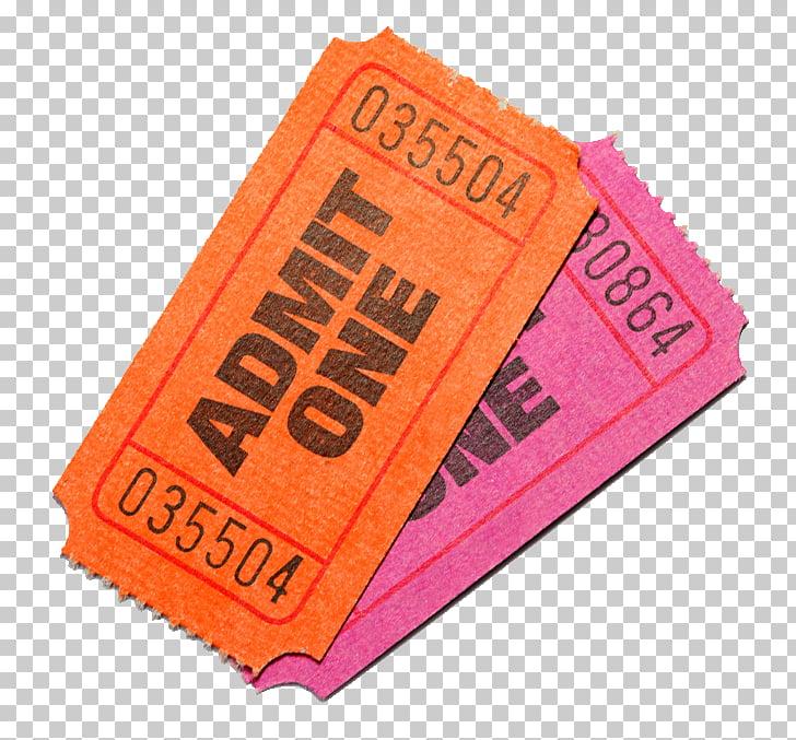 Ticket Stock photography Cinema Film, tickets, orange and.