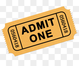 Admit One Ticket PNG and Admit One Ticket Transparent.