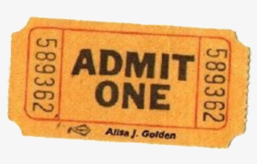 Free Admit One Ticket Clip Art with No Background.
